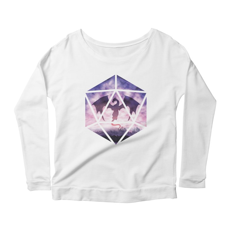 Purple Sky Dragon D20 Women's Longsleeve Scoopneck  by maratusfunk's Shop