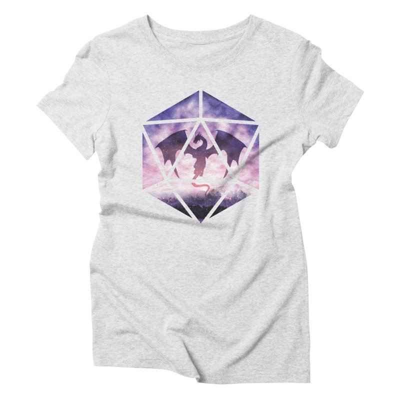 Purple Sky Dragon D20 Women's Triblend T-Shirt by maratusfunk's Shop