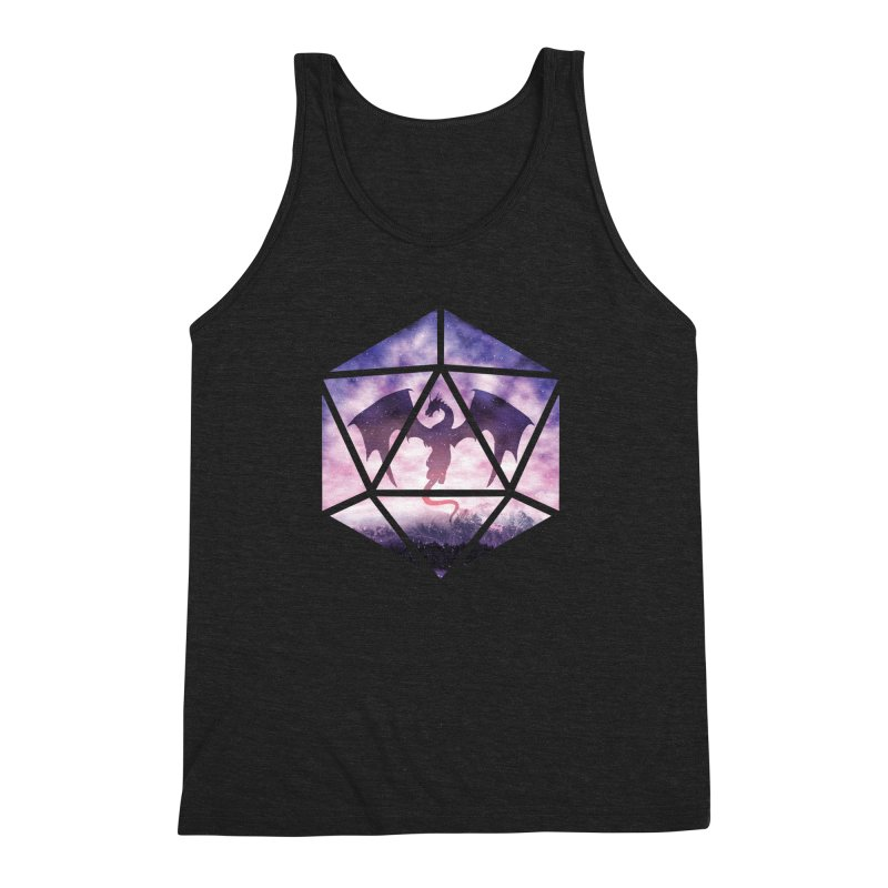 Purple Sky Dragon D20 Men's Triblend Tank by maratusfunk's Shop