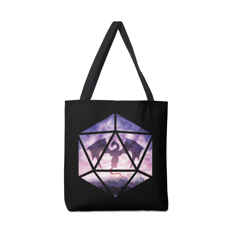 Purple Sky Dragon D20 Accessories Bag by maratusfunk's Shop