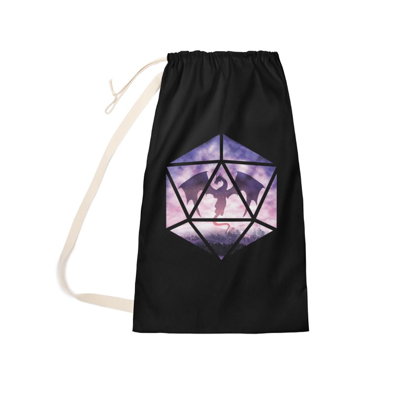 Purple Sky Dragon D20 Accessories Laundry Bag Bag by maratusfunk's Shop