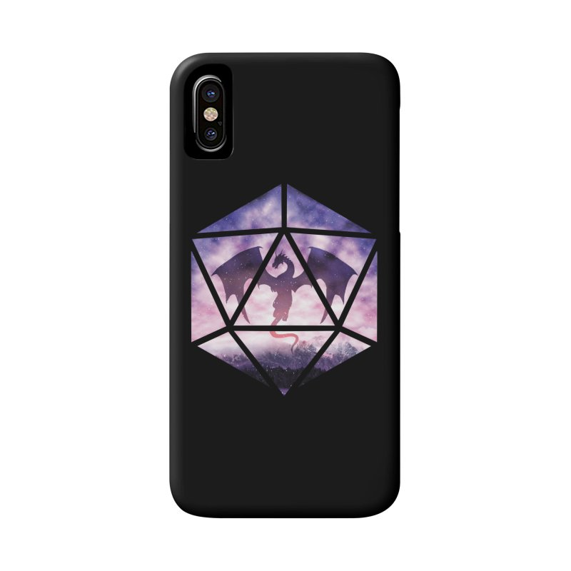 Purple Sky Dragon D20 Accessories Phone Case by maratusfunk's Shop