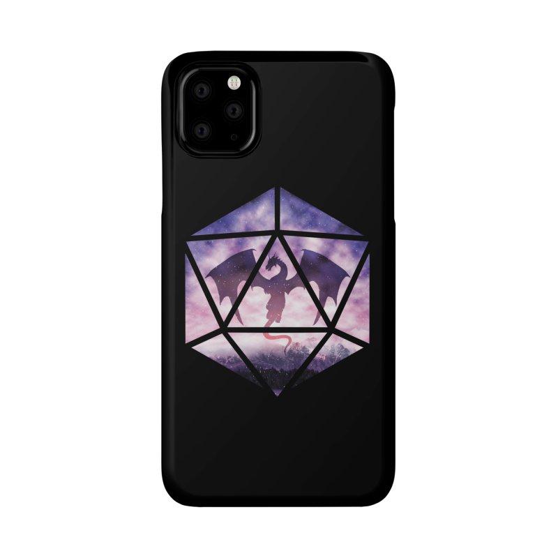 Purple Sky Dragon D20 Accessories Phone Case by maratusfunk's Shop