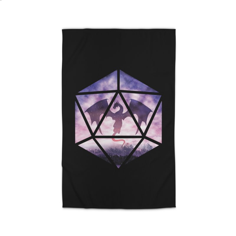 Purple Sky Dragon D20 Home Rug by maratusfunk's Shop