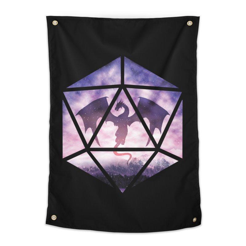 Purple Sky Dragon D20 Home Tapestry by maratusfunk's Shop