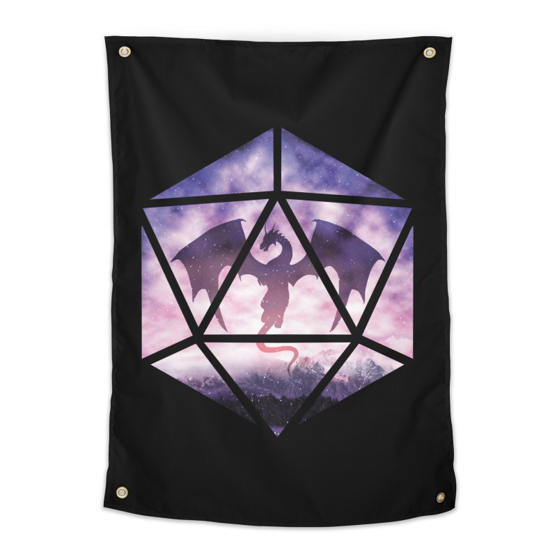 Purple Sky Dragon D20 Home Tapestry by maratusfunk's Shop