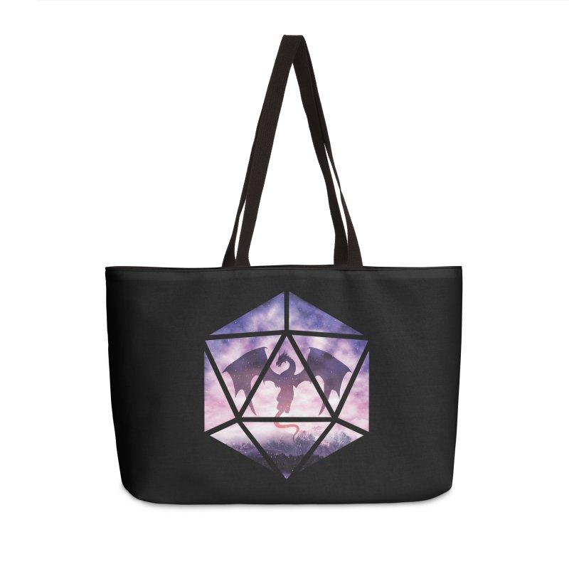 Purple Sky Dragon D20 Accessories Weekender Bag Bag by maratusfunk's Shop