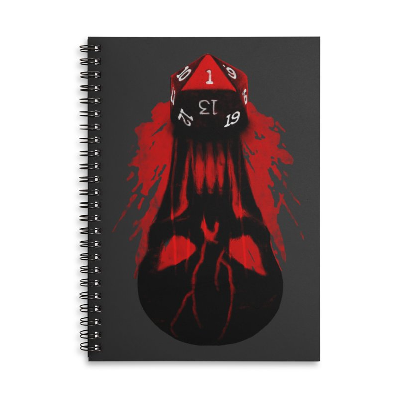 Critical Fail D20 Accessories Lined Spiral Notebook by maratusfunk's Shop