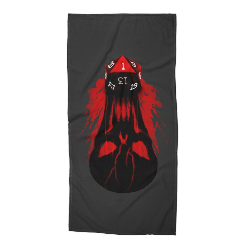 Critical Fail D20 Accessories Beach Towel by maratusfunk's Shop