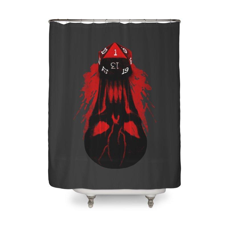 Critical Fail D20 Home Shower Curtain by maratusfunk's Shop