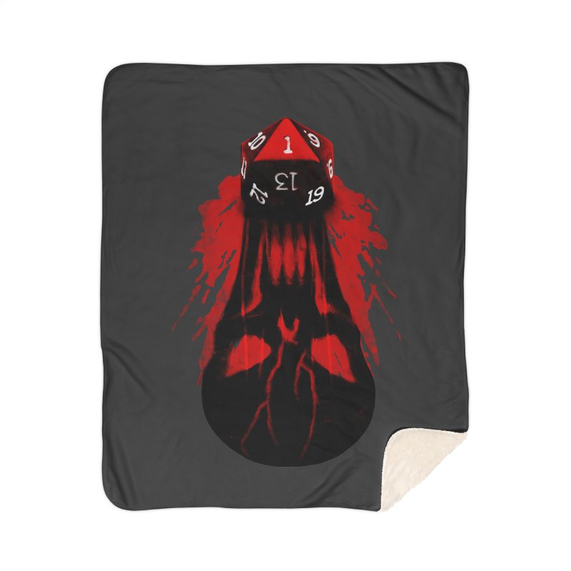 Critical Fail D20 Home Sherpa Blanket Blanket by maratusfunk's Shop