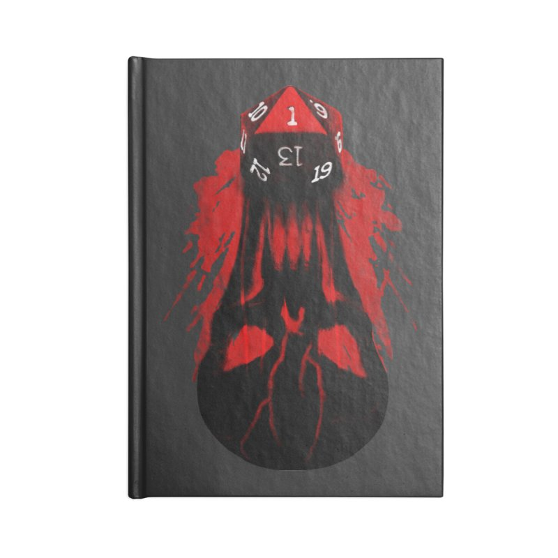 Critical Fail D20 Accessories Lined Journal Notebook by maratusfunk's Shop