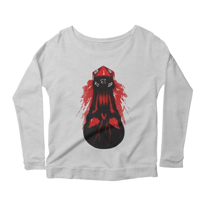 Critical Fail D20 Women's Scoop Neck Longsleeve T-Shirt by maratusfunk's Shop