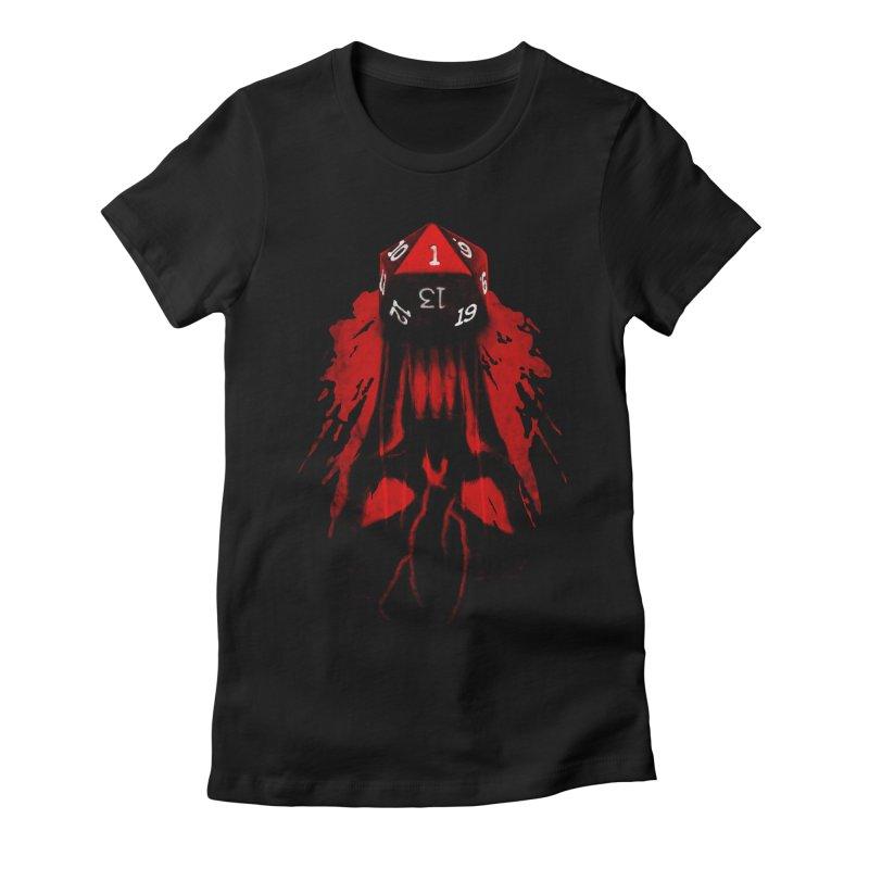Critical Fail D20 Women's Fitted T-Shirt by maratusfunk's Shop
