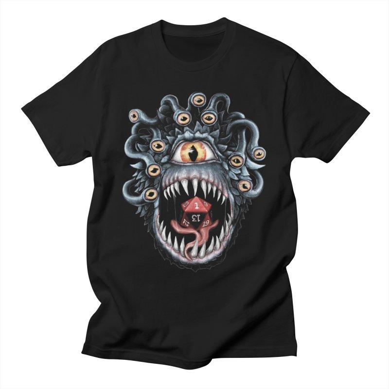 In the Beholder D20 Men's T-Shirt by maratusfunk's Shop
