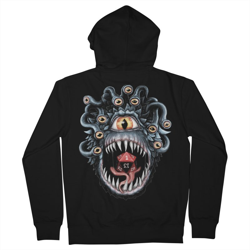 In the Beholder D20 Men's French Terry Zip-Up Hoody by maratusfunk's Shop
