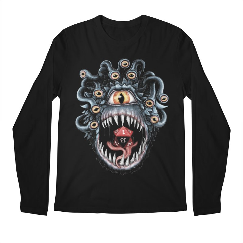 In the Beholder D20 Men's Regular Longsleeve T-Shirt by maratusfunk's Shop