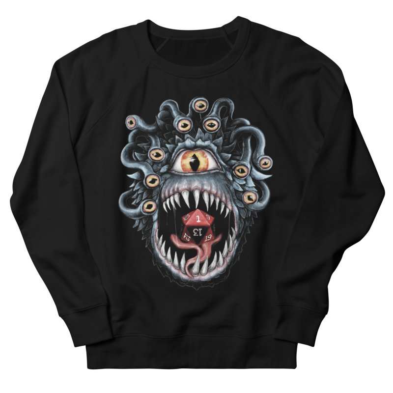 In the Beholder D20 Men's French Terry Sweatshirt by maratusfunk's Shop