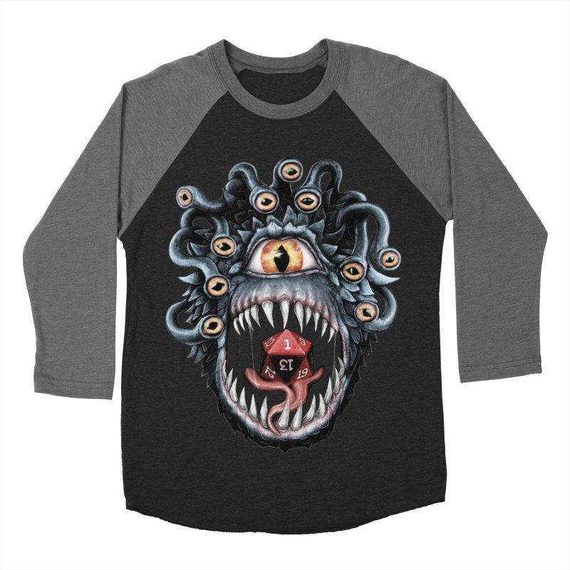 In the Beholder D20 Men's Baseball Triblend Longsleeve T-Shirt by maratusfunk's Shop