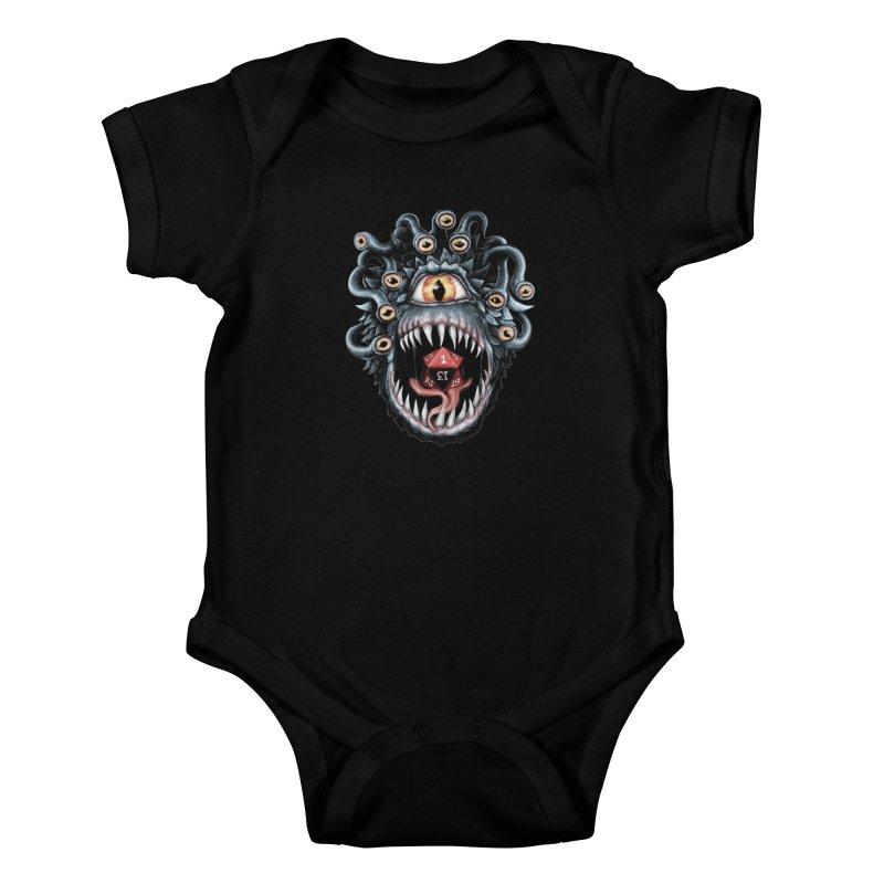 In the Beholder D20 Kids Baby Bodysuit by maratusfunk's Shop