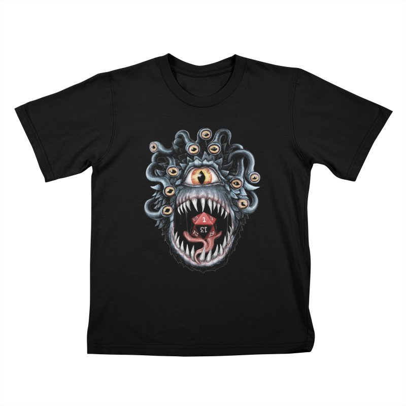 In the Beholder D20 Kids T-Shirt by maratusfunk's Shop