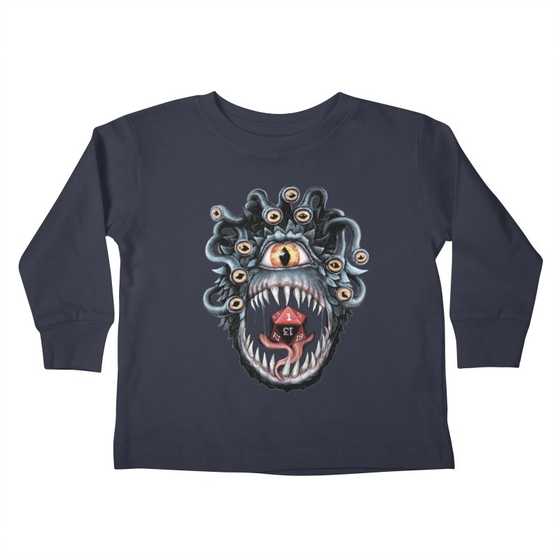 In the Beholder D20 Kids Toddler Longsleeve T-Shirt by maratusfunk's Shop