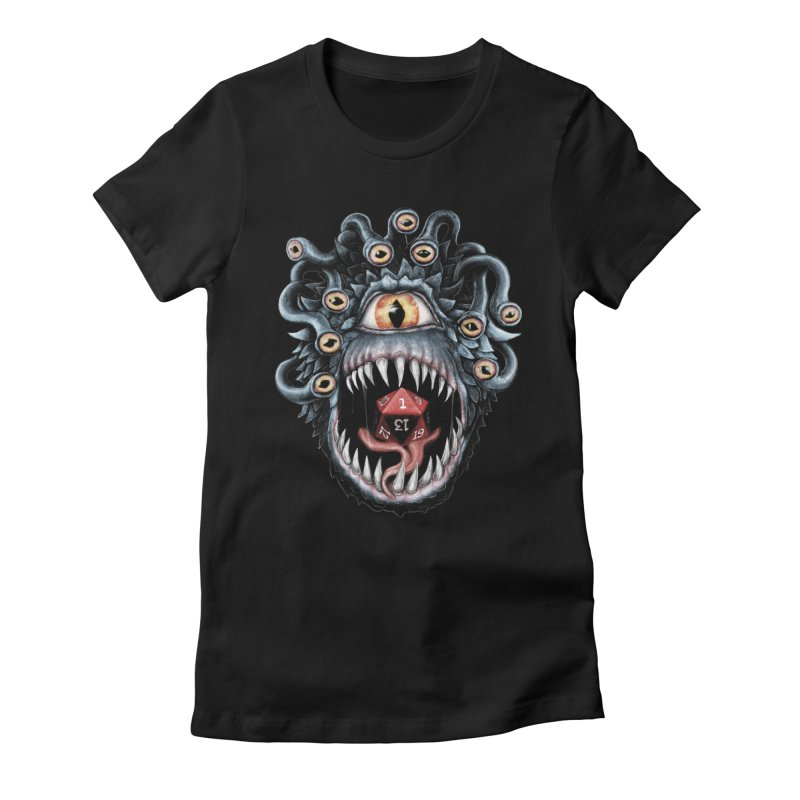 In the Beholder D20 Women's Fitted T-Shirt by maratusfunk's Shop