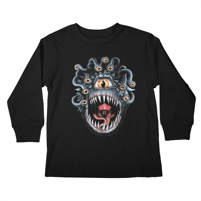 In the Beholder D20 Kids Longsleeve T-Shirt by maratusfunk's Shop