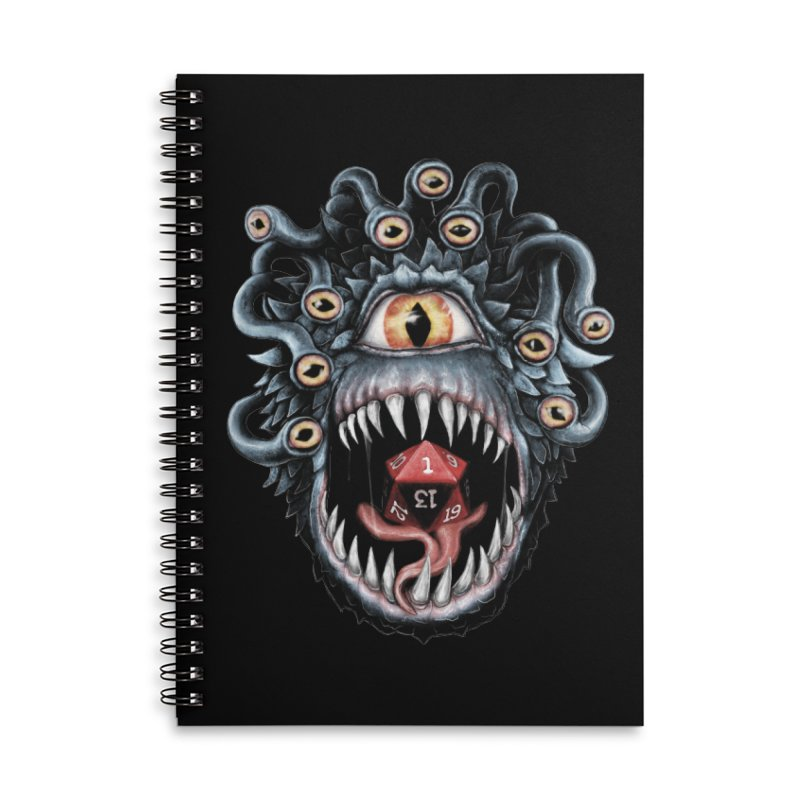 In the Beholder D20 Accessories Lined Spiral Notebook by maratusfunk's Shop