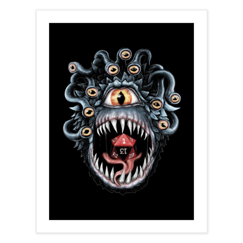 In the Beholder D20 Home Fine Art Print by maratusfunk's Shop