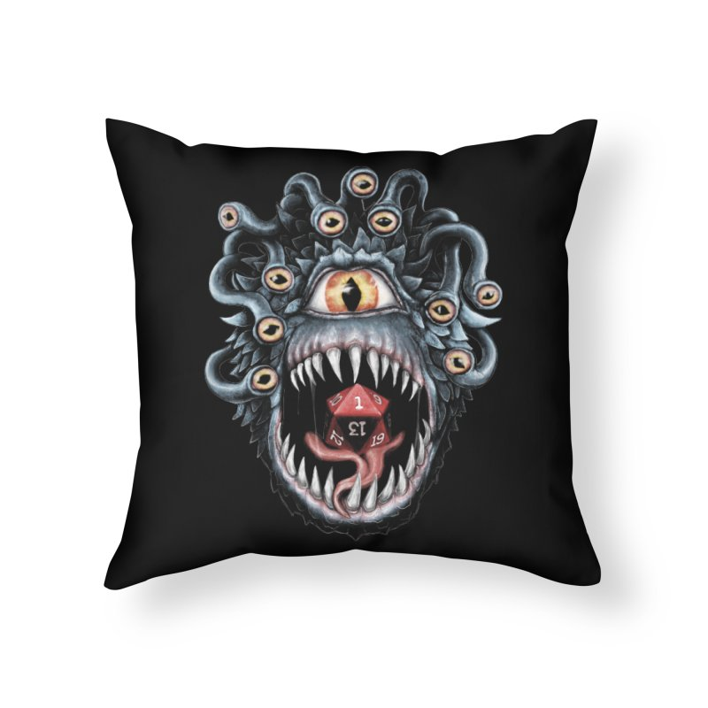 In the Beholder D20 Home Throw Pillow by maratusfunk's Shop