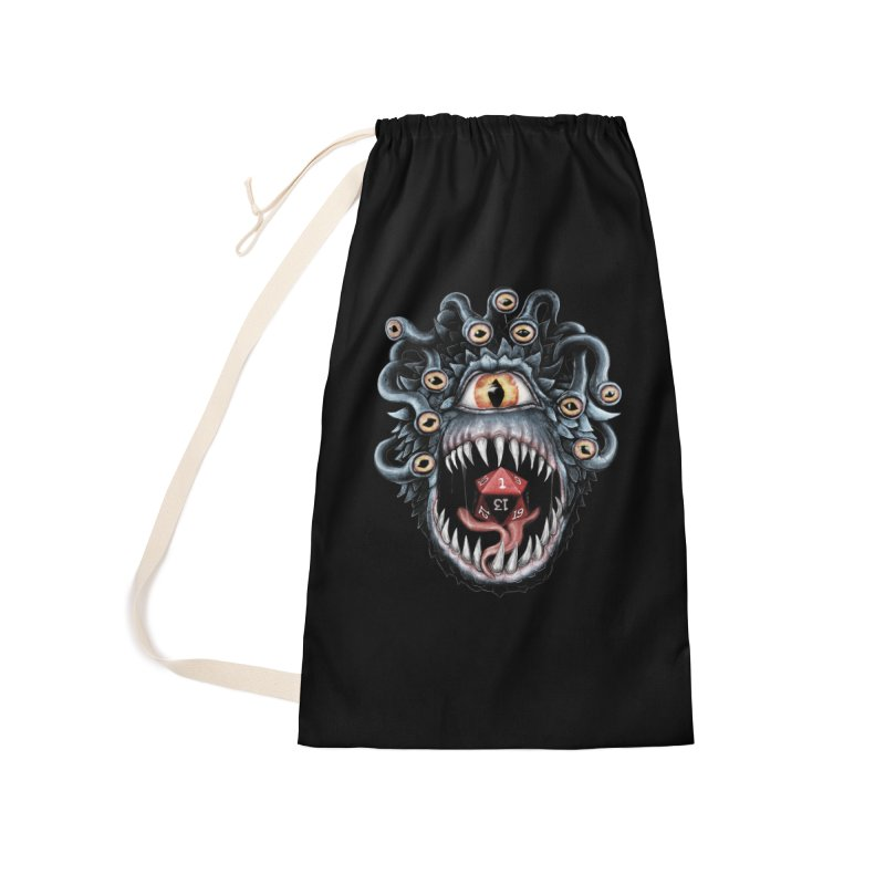 In the Beholder D20 Accessories Laundry Bag Bag by maratusfunk's Shop