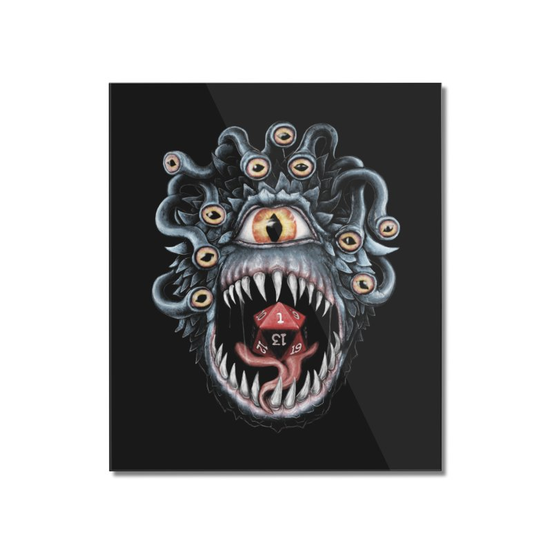In the Beholder D20 Home Mounted Acrylic Print by maratusfunk's Shop