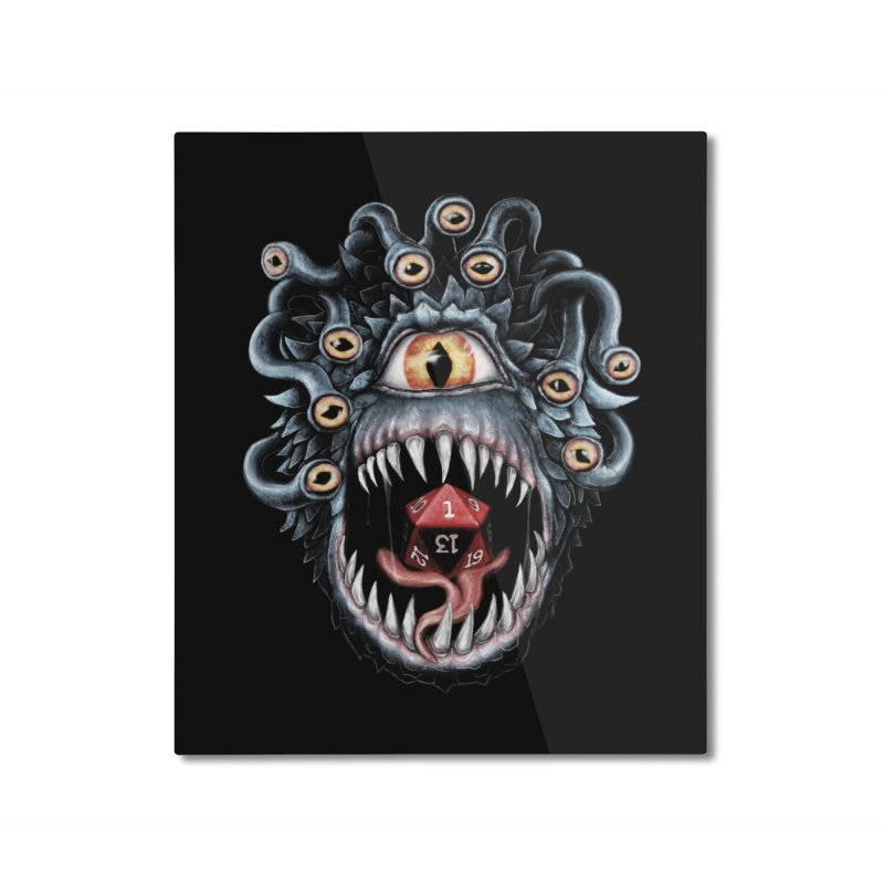 In the Beholder D20 Home Mounted Aluminum Print by maratusfunk's Shop