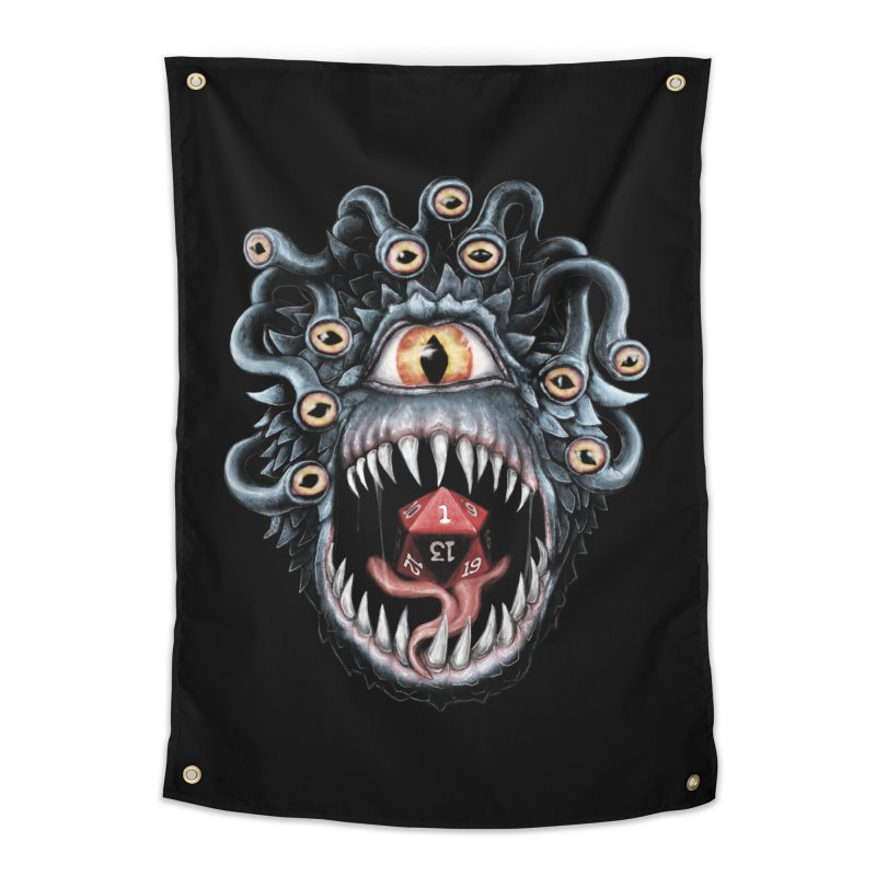 In the Beholder D20 Home Tapestry by maratusfunk's Shop