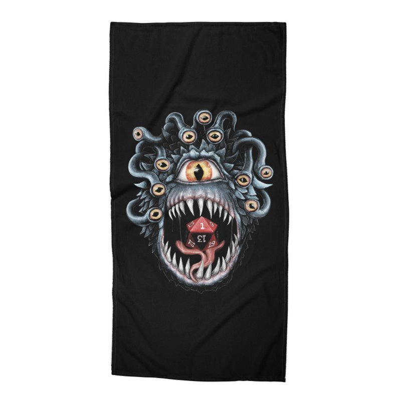 In the Beholder D20 Accessories Beach Towel by maratusfunk's Shop