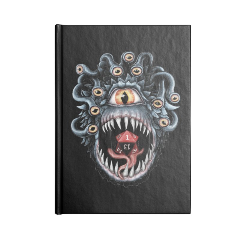 In the Beholder D20 Accessories Lined Journal Notebook by maratusfunk's Shop