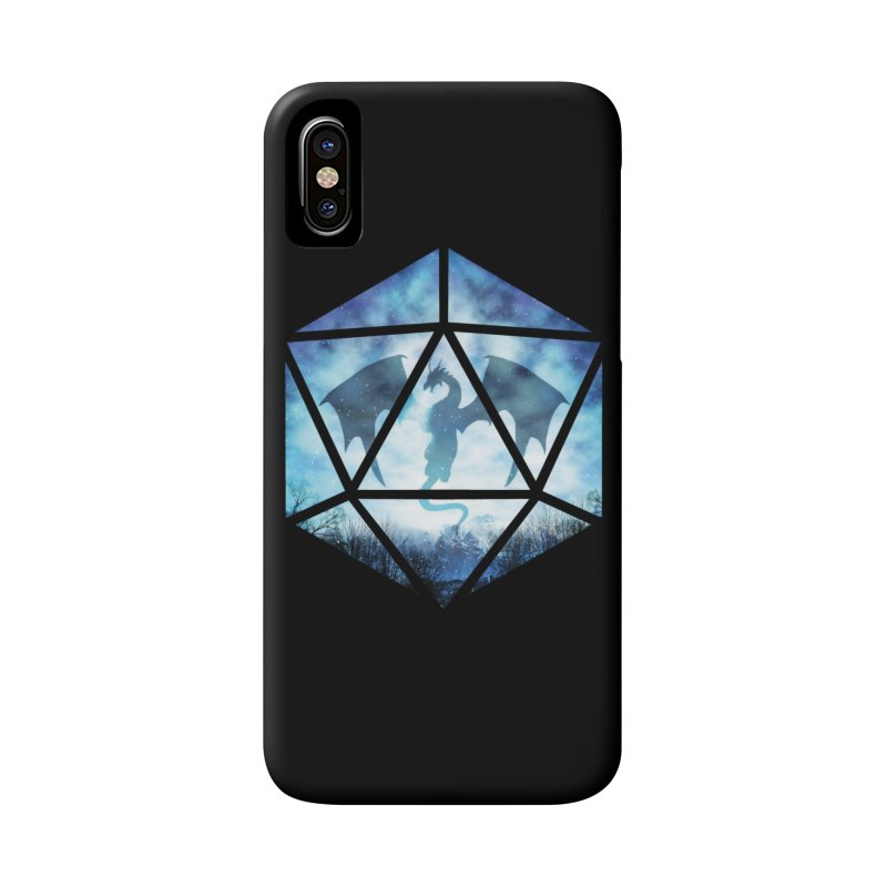 Blue Sky Ice Dragon D20 Accessories Phone Case by maratusfunk's Shop