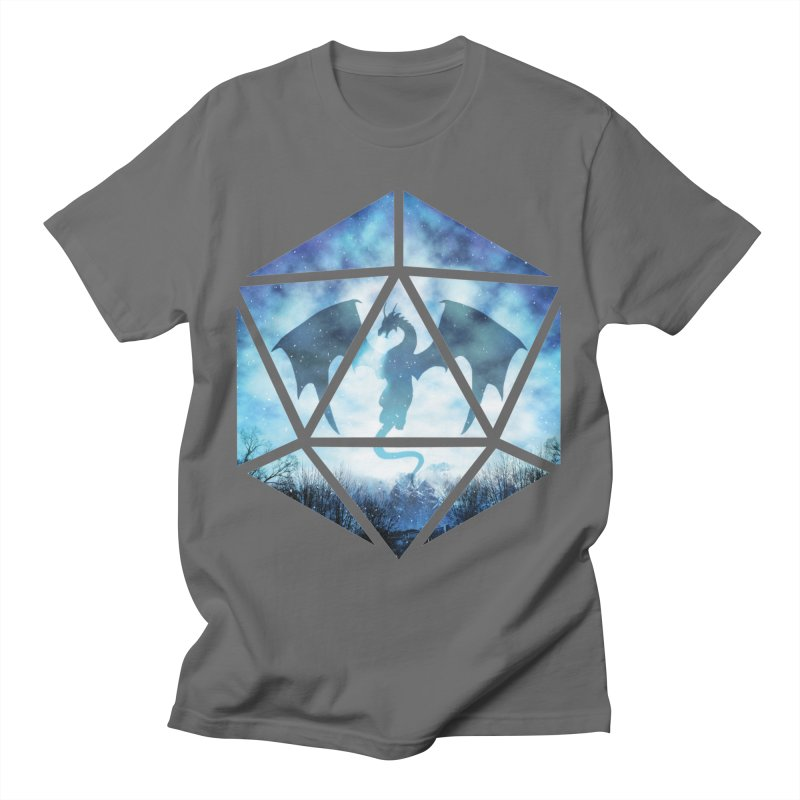 Blue Sky Ice Dragon D20 Men's T-Shirt by maratusfunk's Shop