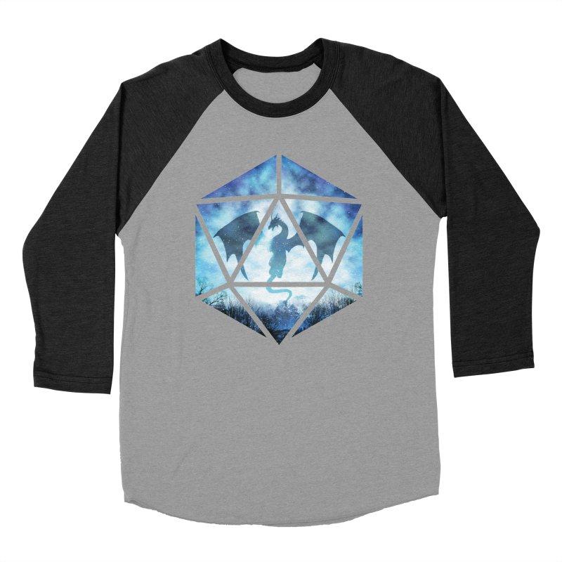 Blue Sky Ice Dragon D20 Men's Longsleeve T-Shirt by maratusfunk's Shop