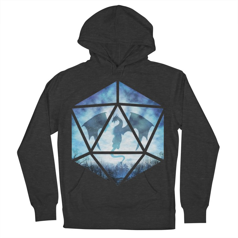 Blue Sky Ice Dragon D20 Men's French Terry Pullover Hoody by maratusfunk's Shop