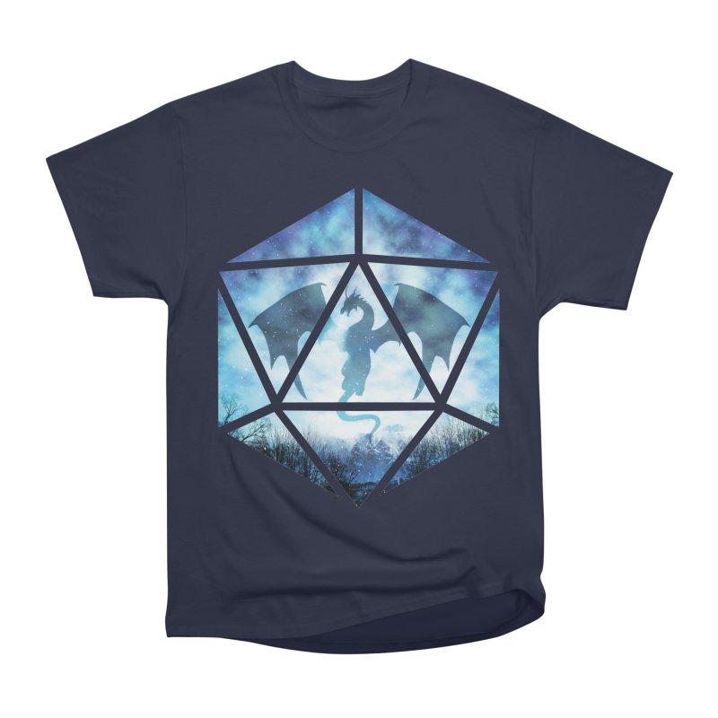 Blue Sky Ice Dragon D20 Men's Heavyweight T-Shirt by maratusfunk's Shop