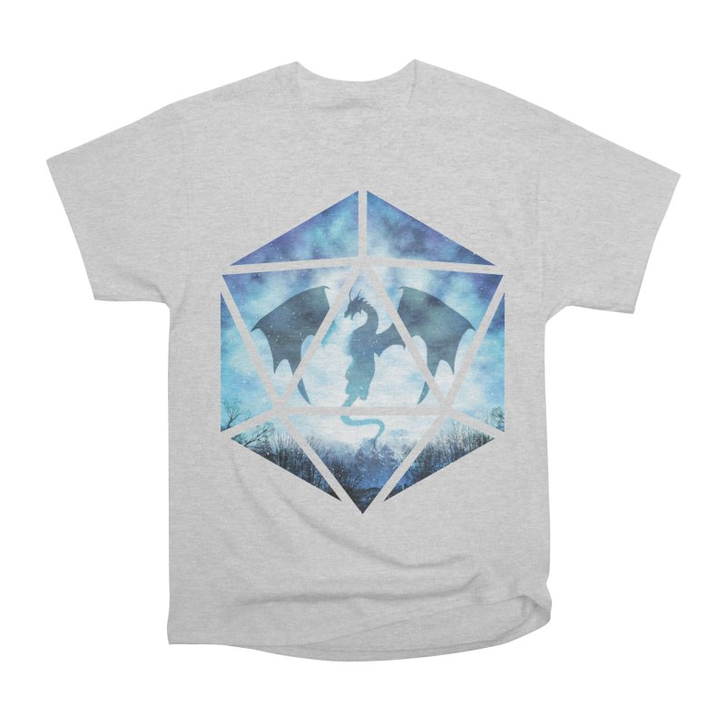 Blue Sky Ice Dragon D20 Men's Heavyweight T-Shirt by maratusfunk's Shop