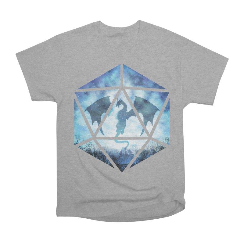 Blue Sky Ice Dragon D20 Women's Heavyweight Unisex T-Shirt by maratusfunk's Shop