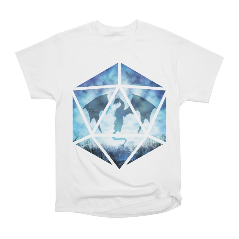 Blue Sky Ice Dragon D20 Women's Heavyweight Unisex T-Shirt by maratusfunk's Shop