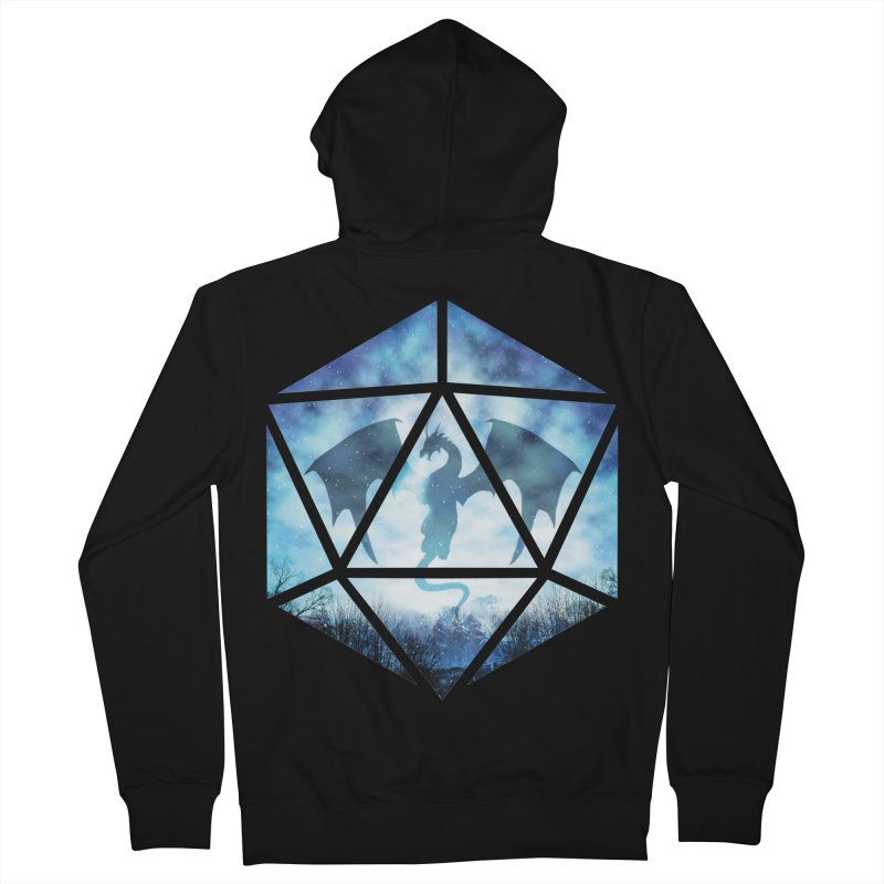 Blue Sky Ice Dragon D20 Women's French Terry Zip-Up Hoody by maratusfunk's Shop