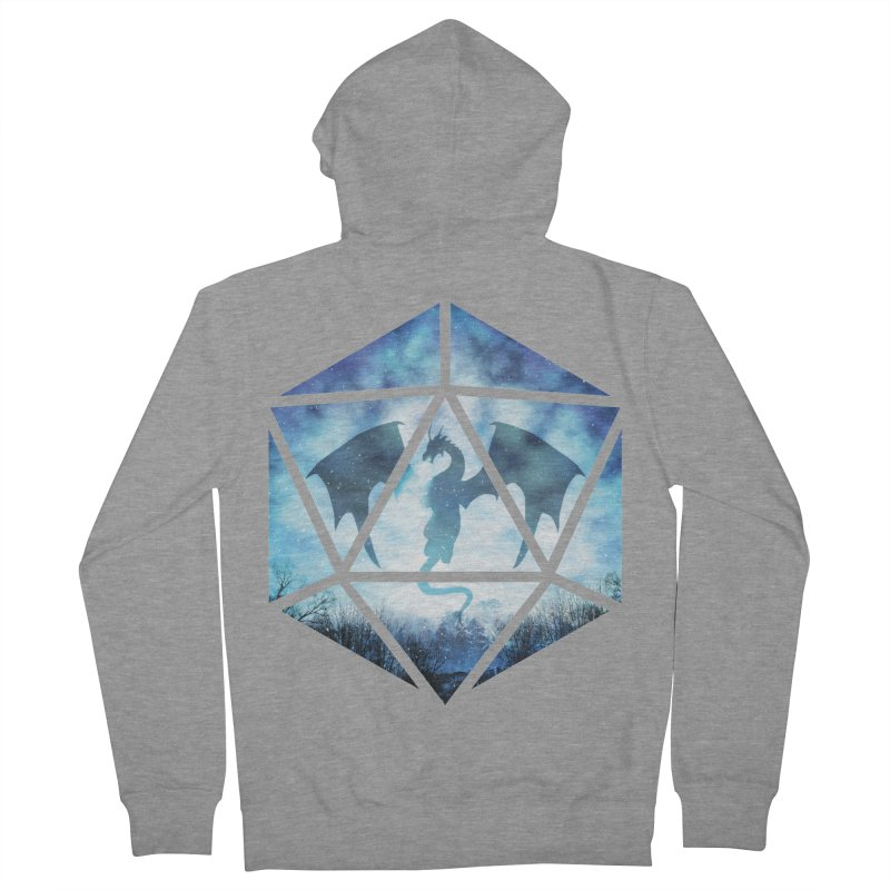 Blue Sky Ice Dragon D20 Men's French Terry Zip-Up Hoody by maratusfunk's Shop