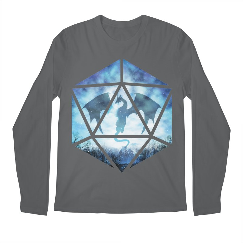 Blue Sky Ice Dragon D20 Men's Regular Longsleeve T-Shirt by maratusfunk's Shop