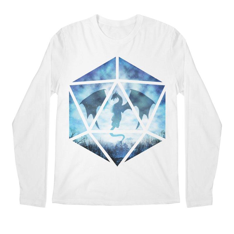 Blue Sky Ice Dragon D20 Men's Regular Longsleeve T-Shirt by maratusfunk's Shop