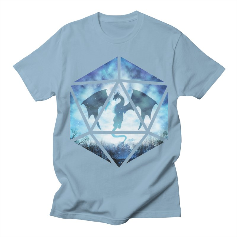 Blue Sky Ice Dragon D20 Men's Regular T-Shirt by maratusfunk's Shop